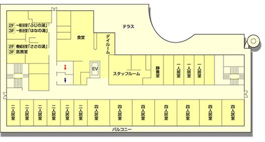 高齢者住宅サービスセンター清雅 2階と3階 見取り図