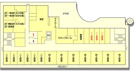 清雅苑2階・3階のフロア図