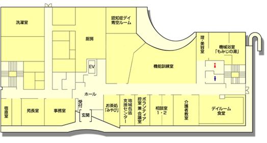 高齢者住宅サービスセンター清雅 1階 見取り図