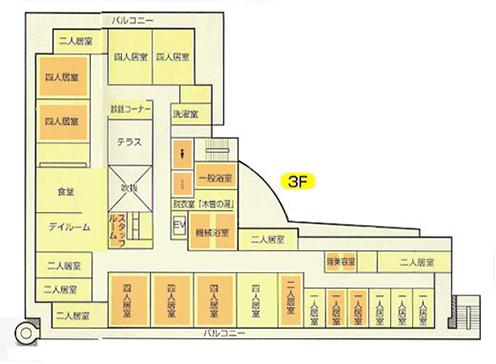 つきみの園3階 見取り図