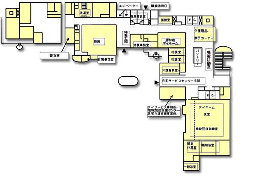 桐ヶ丘やまぶき荘1階 見取り図